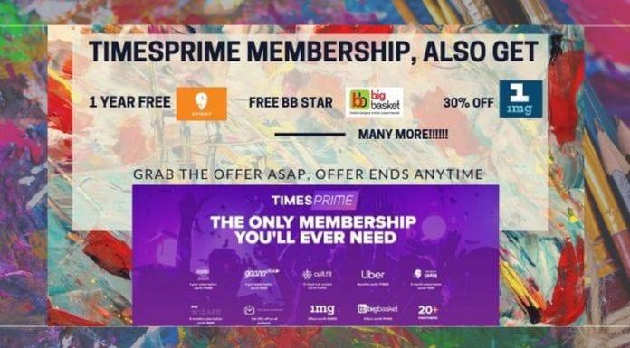 Times prime referral code (MANI1814). Get free membership